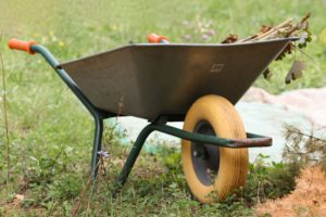 Manchmal reicht eine einfache Schubkarre nicht aus, stattdessen ist eine Motorschubkarre nötig.