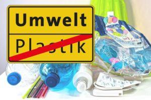 Plastikmüll gehört in die gelbe Tonne, der Umwelt zuliebe.